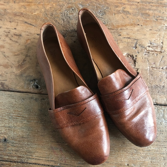 90cf04ad529 Frye Shoes - Frye Cognac Terri Penny Loafers 6